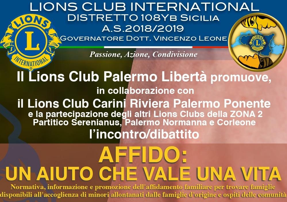 Kifubon sponsor di un convegno a Palermo sull'affido familiare, organizzato dal Lions Club